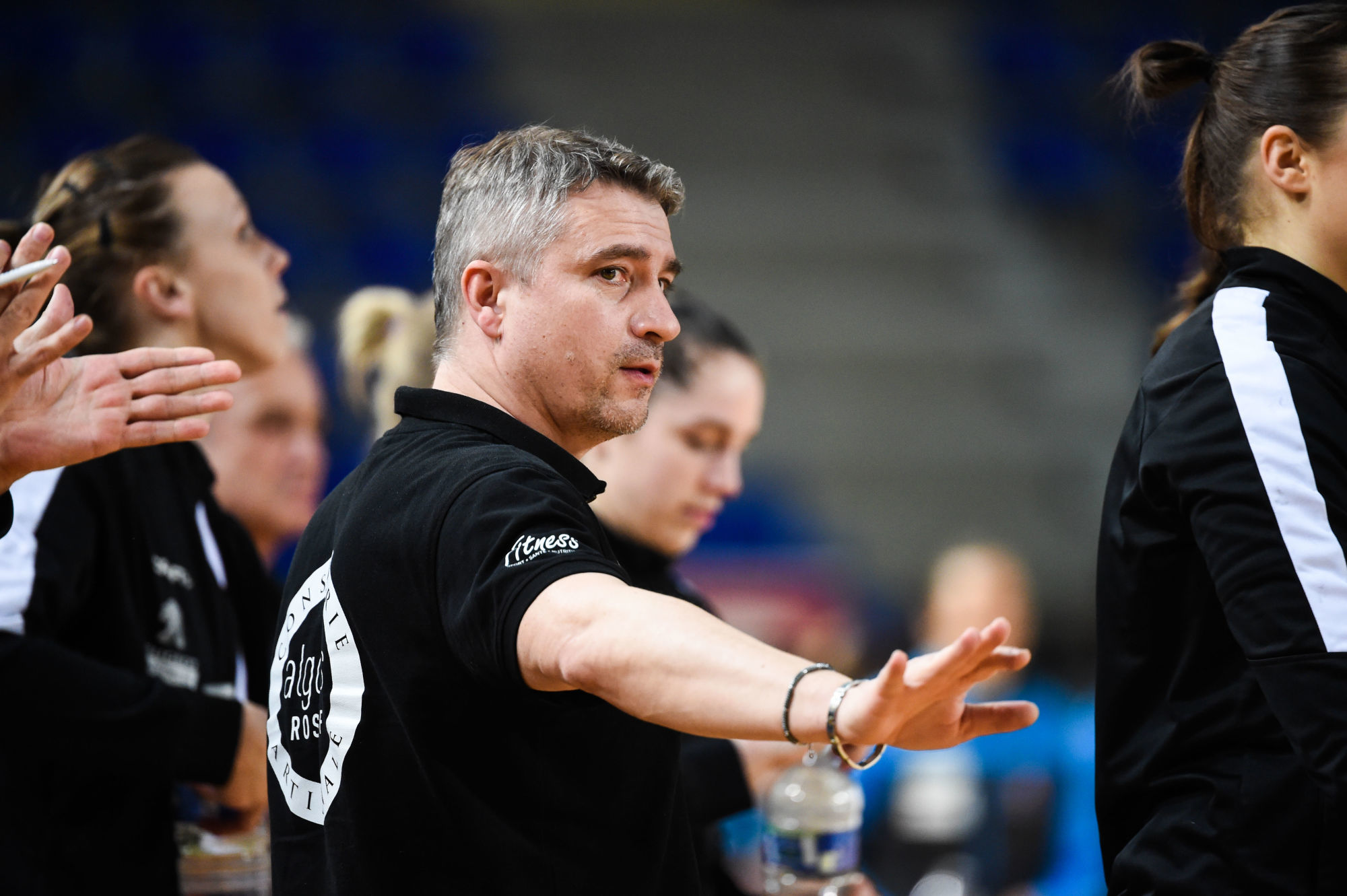 Laurent BEZEAU head coach of Brest during the LFH - Ligue Butagaz Energie match between Metz and Brest on March 28, 2021 in Metz, France. (Photo by Sebastien Bozon/Icon Sport) - Laurent BEZEAU - Palais Omnisports Les Arenes Metz - Metz (France)