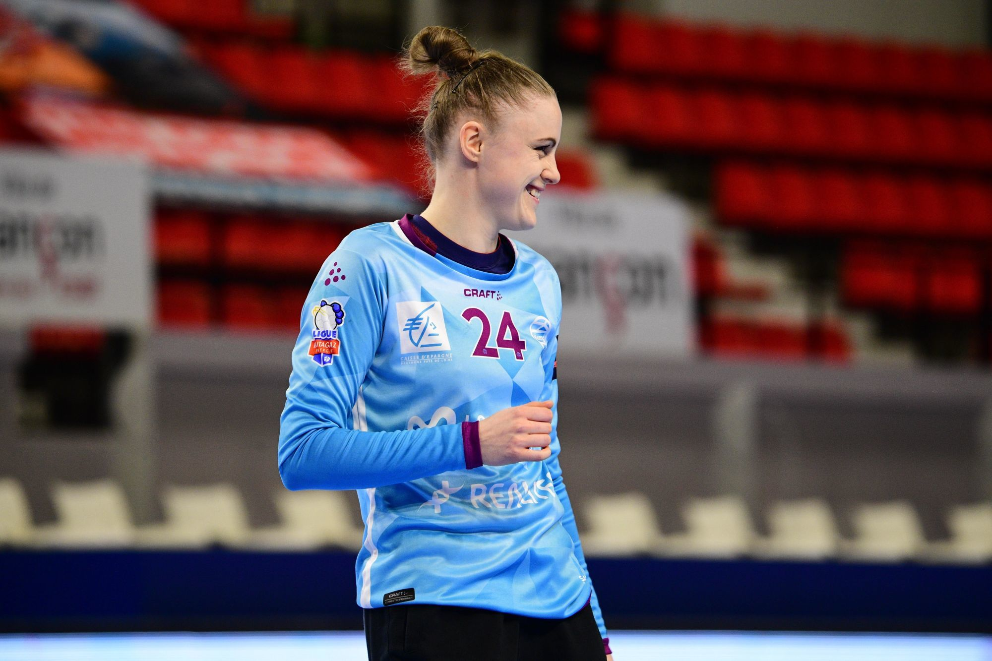 Adrianna PLACZEK of Nantes during the Women's Division 1 match between Besancon and Nantes on 27January, 2021 in Fleury-les-Aubrais, France. (Photo by Sebastien Bozon/Icon Sport) - Adrianna PLACZEK -  (France)