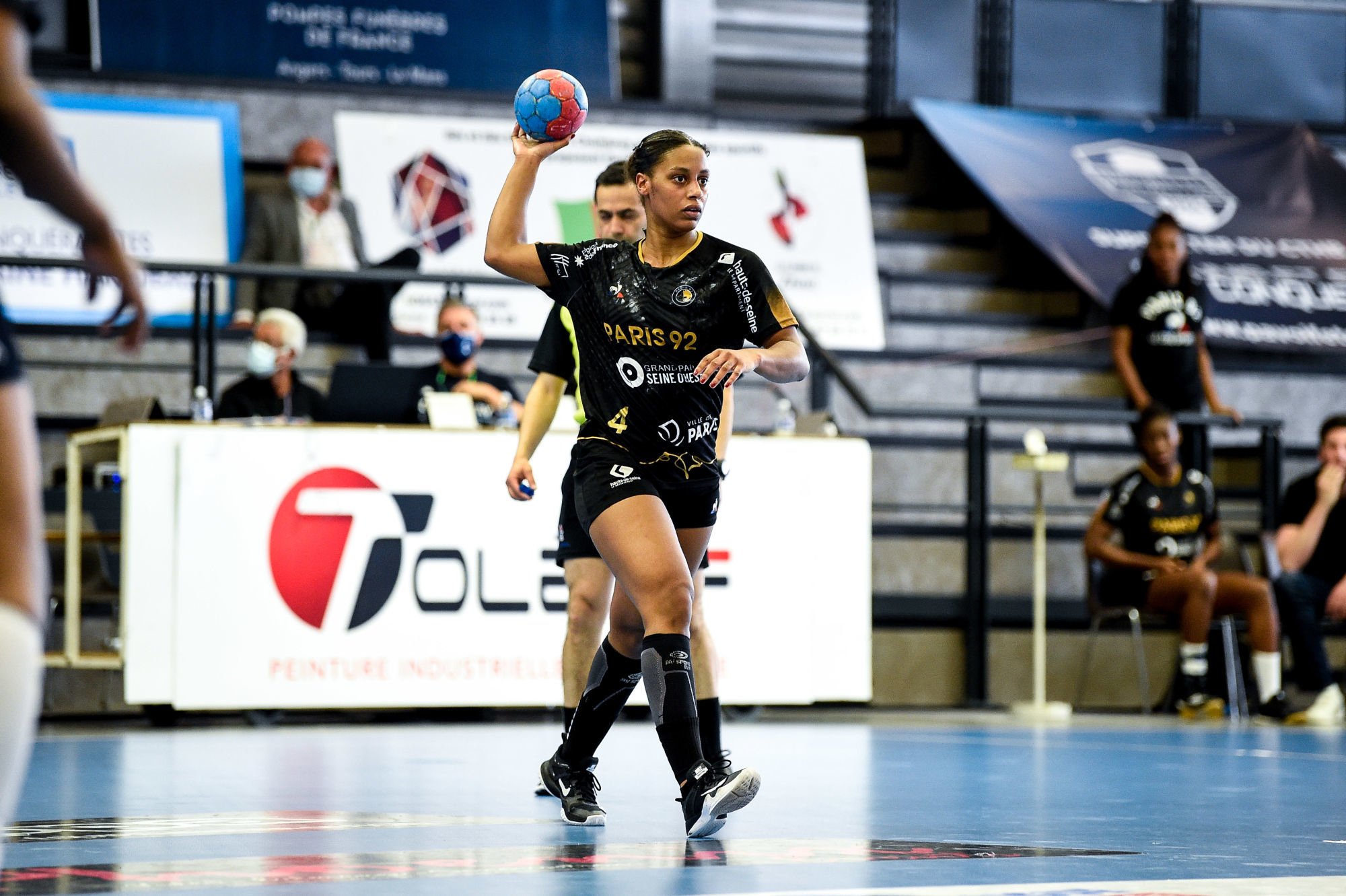 Soukeina SAGNA of Paris 92 during the Ligue Butagaz Energie match between Chambray and Paris 92 on May 8, 2021 in Chambray-les-Tours, France. (Photo by Hugo Pfeiffer/Icon Sport) - Soukeina SAGNA - Gymnase de la Fontaine Blanche - Chambray-les-Tours (France)