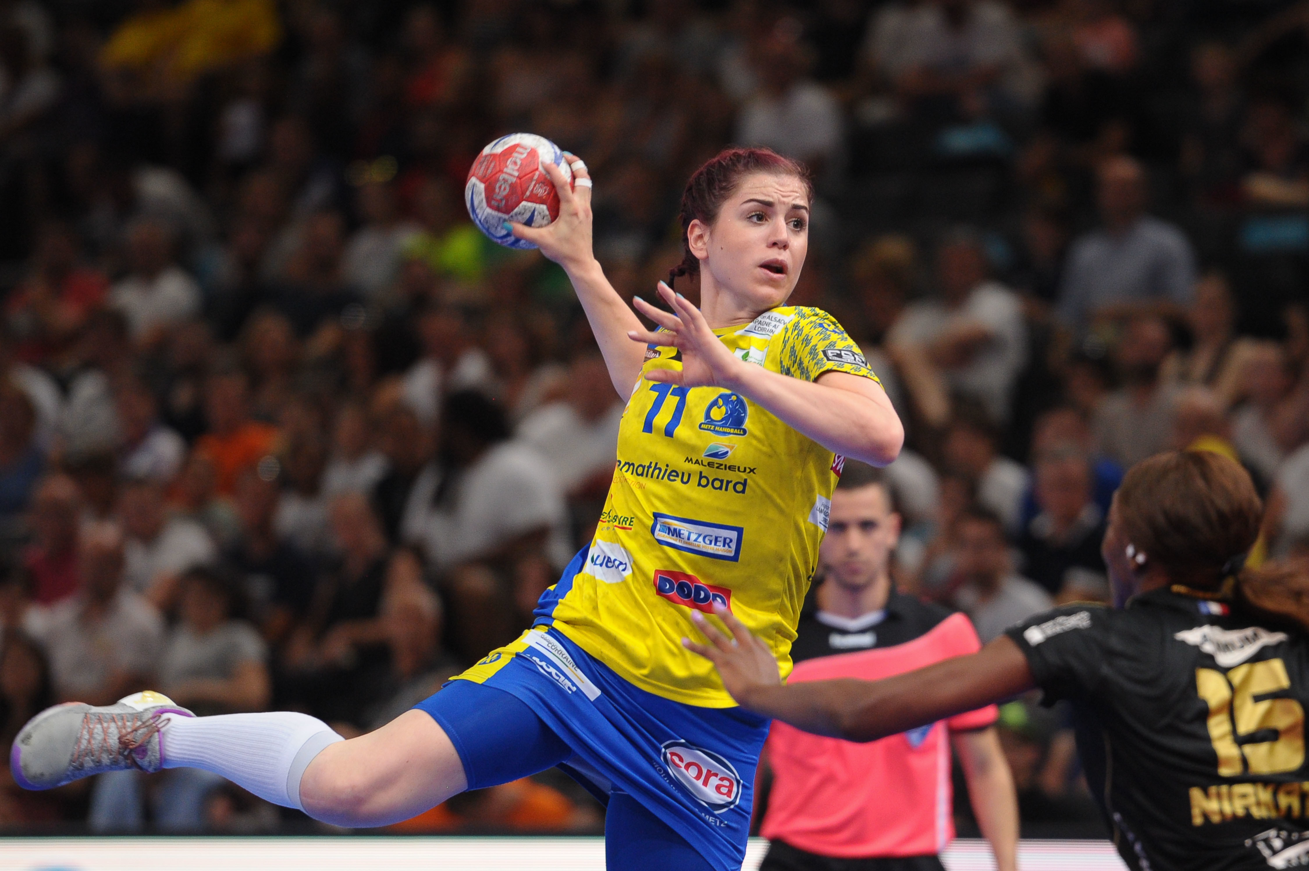 Tamara Horacek of Metz during the Women's handball National Cup Final match between Metz and Issy Paris at AccorHotels Arena on May 27, 2017 in Paris, France. ( Photo by Andre Ferreira / Icon Sport )