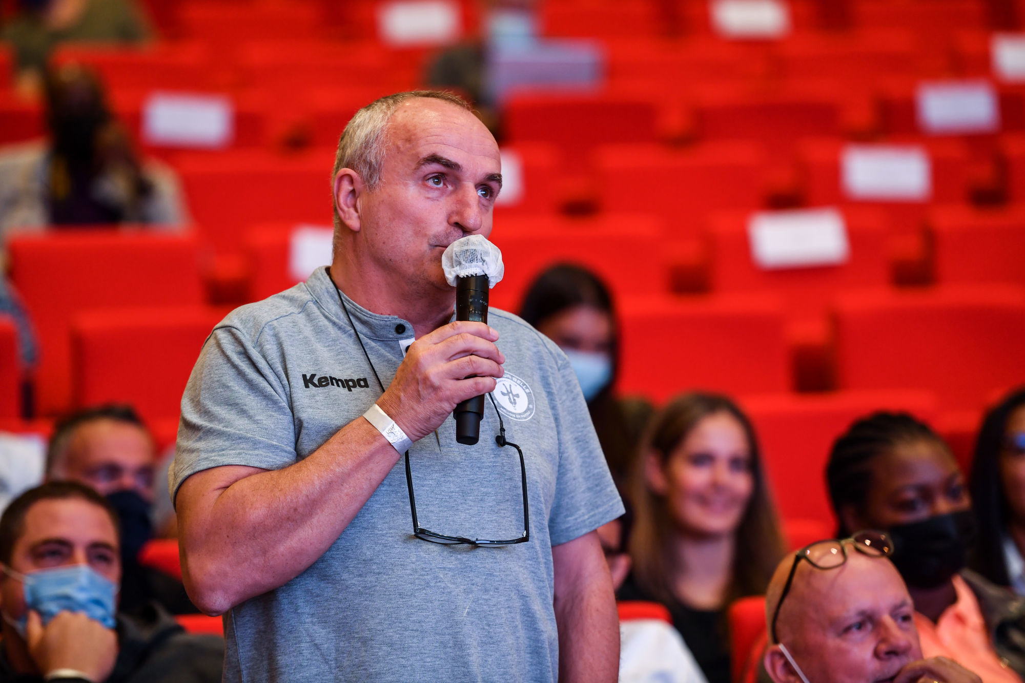 Thierry VINCENT head coach of Celles sur Belle during the press conference of French Women Handball National League at Maison du Handball on September 1, 2021 in Creteil, France. (Photo by Baptiste Fernandez/Icon Sport) - Thierry VINCENT - Maison du Handball - Creteil (France)