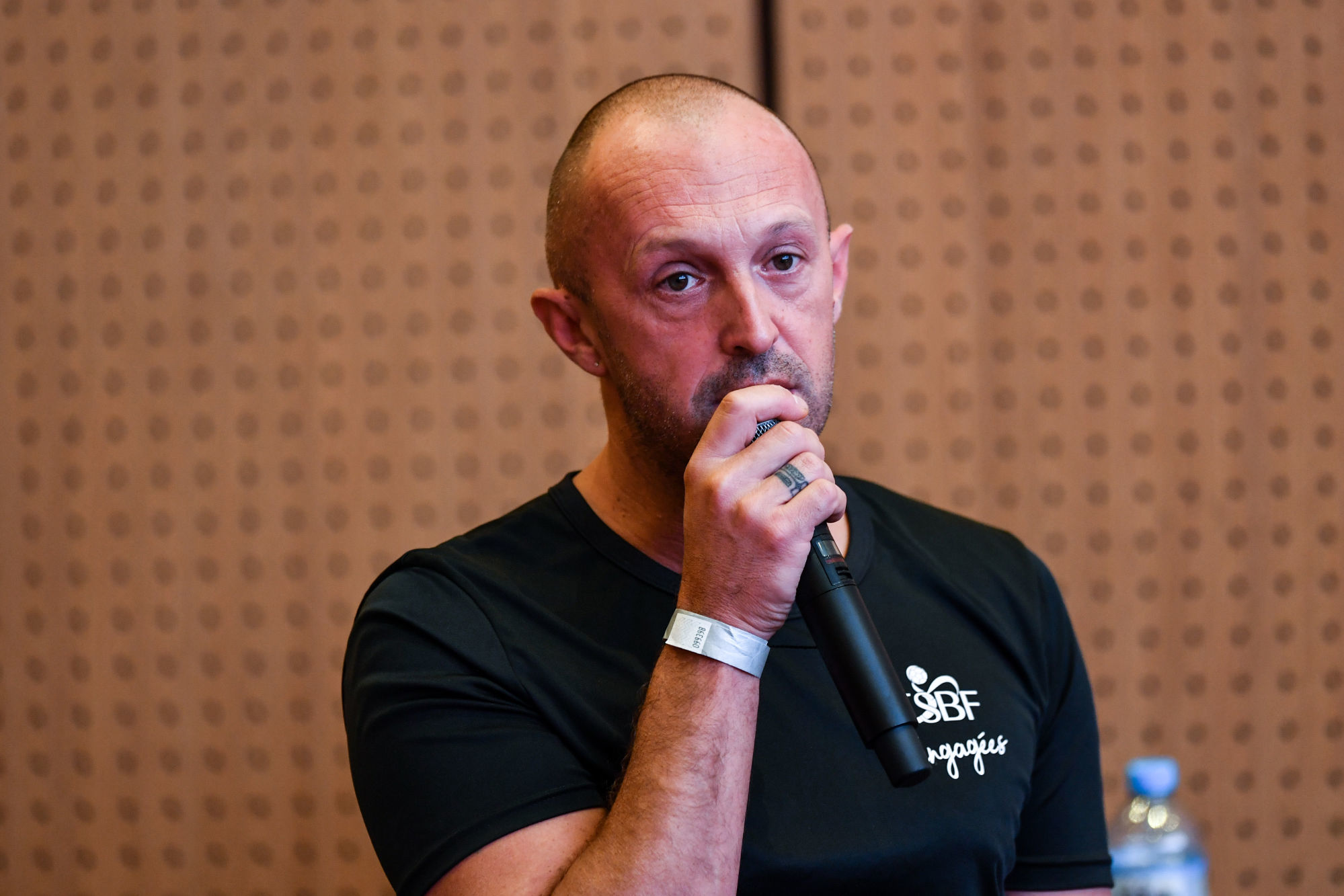 Sebastien MIZOULE head coach of ESBF Besancon during the press conference of French Women Handball National League at Maison du Handball on September 1, 2021 in Creteil, France. (Photo by Baptiste Fernandez/Icon Sport) - Sebastien MIZOULE - Maison du Handball - Creteil (France)
