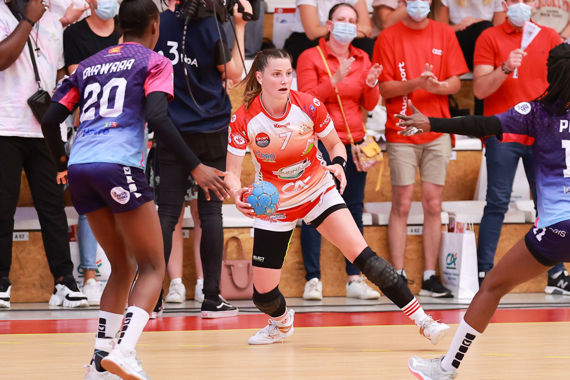 Lesly Briemant of Celles sur Belle, Adja-sanou PAYE of Le Havre, Mathita DIAWARA of Le Havre during the second Final match D2F between Celles-sur-Belle and Le Havre  on June 5, 2021 in Celles-sur-Belle, France. (Photo by Cedric Vlemmings/Icon Sport) - Lesly BRIEMANT - Adja Sanou PAYE - Mathita DIAWARA -  (France)