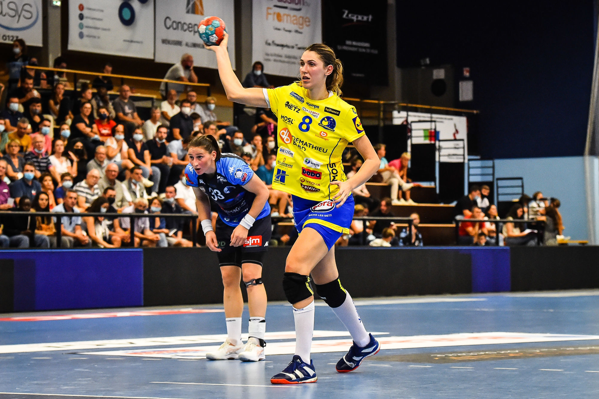 Camila MICIJEVIC of Metz during the Ligue Butaguaz Energie match between Chambray and Metz on September 15, 2021 in Chambray-les-Tours, France. (Photo by Matthieu Mirville/Icon Sport) -  (France)