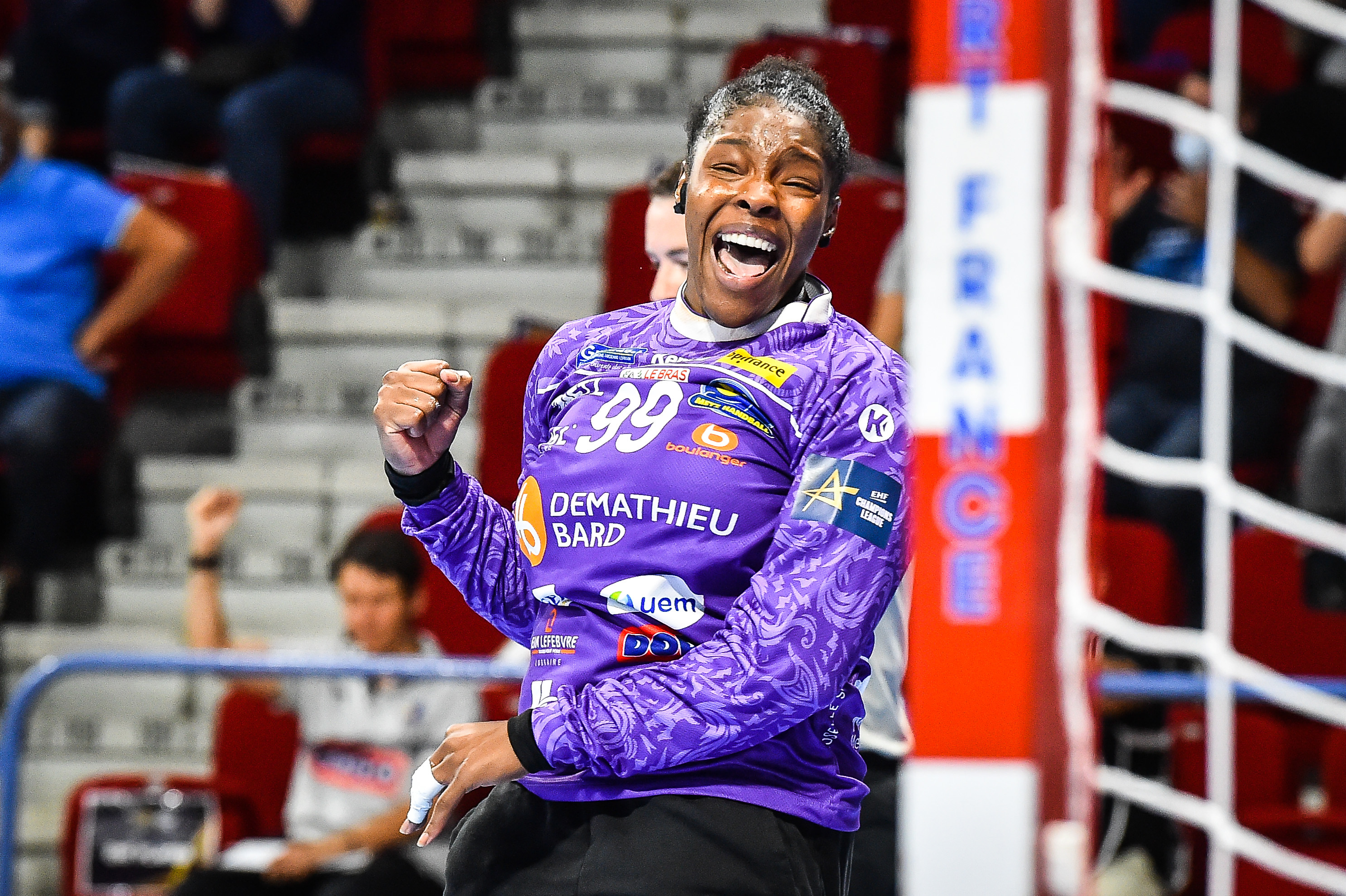 Hatadou SAKO of Metz during the DELO EHF Champions League match between Metz and Kristiansand on September 26, 2021 in Metz, France. (Photo by Matthieu Mirville/Icon Sport) -  (France)