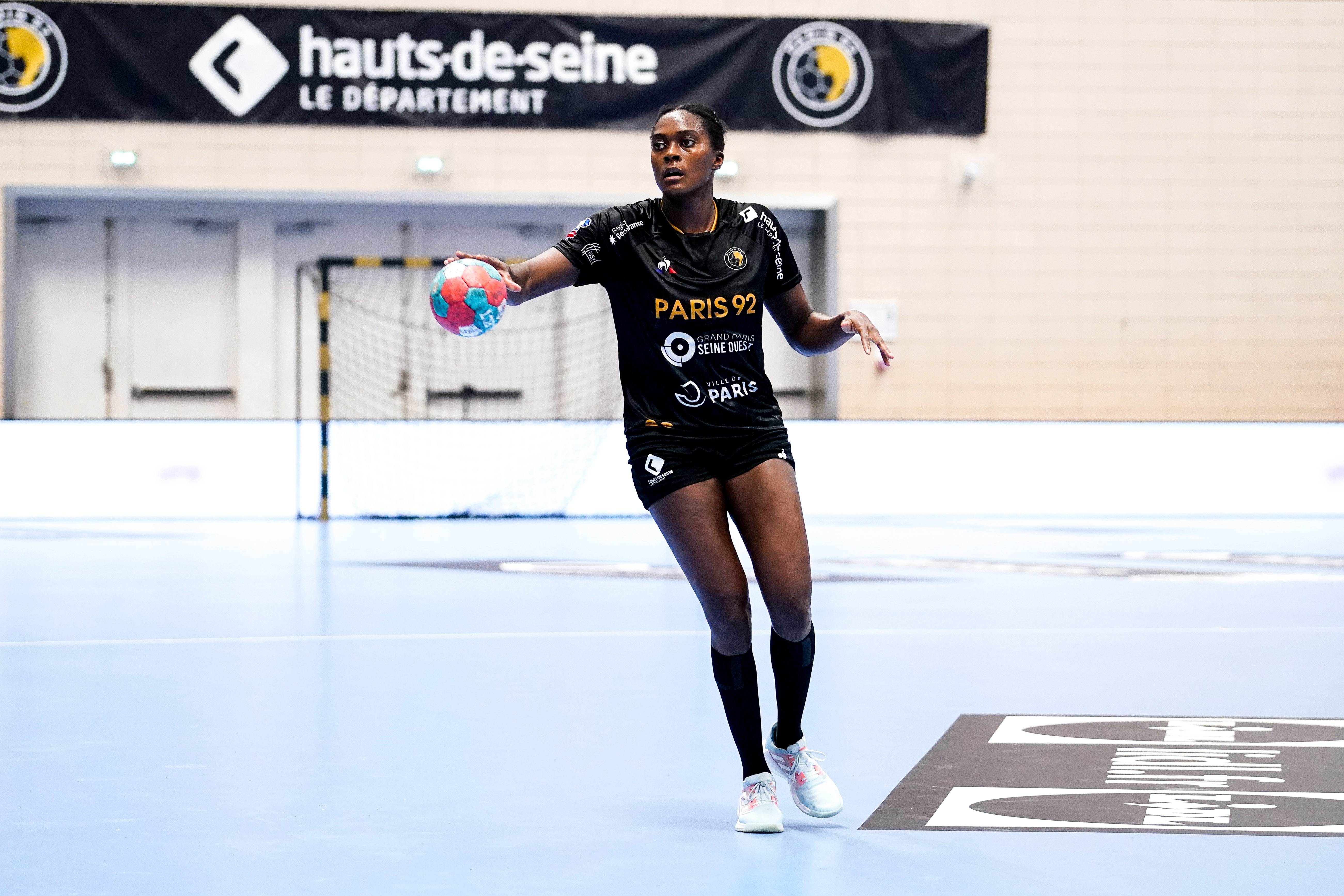 Gnonsiane NIOMBLA of Paris 92  during the Ligue Butaguaz Energie match between Paris 92 and Chambray at Palais des Sports on September 8, 2021 in Paris, France. (Photo by Hugo Pfeiffer/Icon Sport) - Palais des Sports Robert Charpentier - Issy-les-Moulineaux (France)