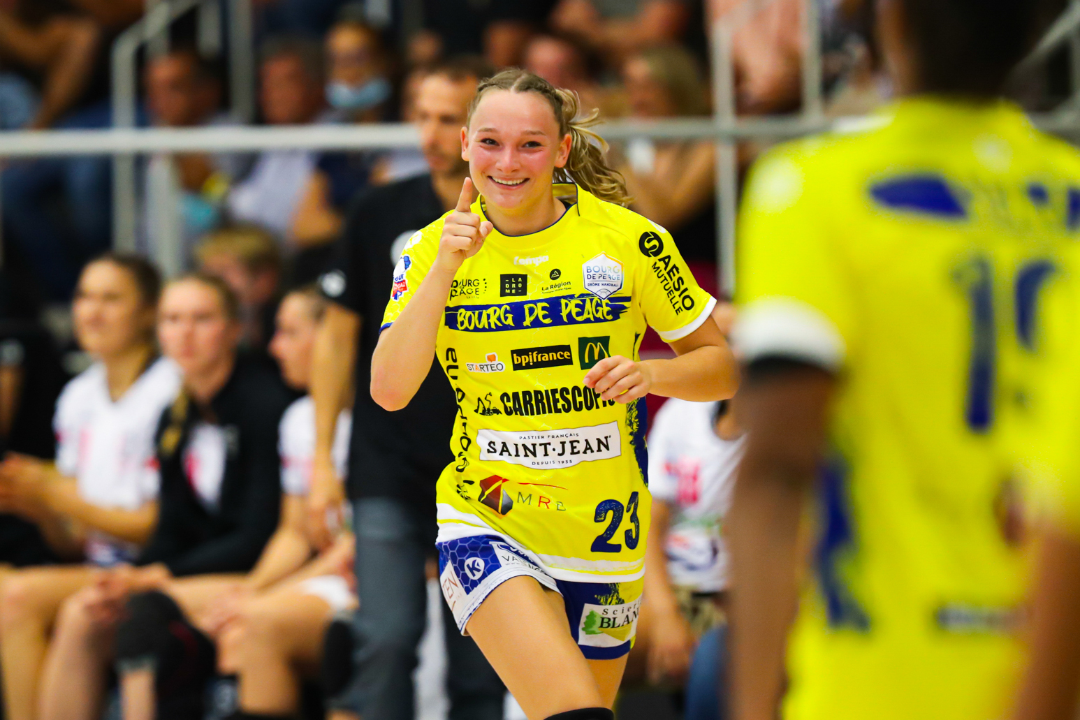 Lena GRANDVEAU of Bourg de Peage during the Ligue Butaguaz Energie match between Bourg de Peage and Brest on September 8, 2021 in Bourg-de-Peage, France. (Photo by Bertrand Delhomme/Icon Sport) -  (France)