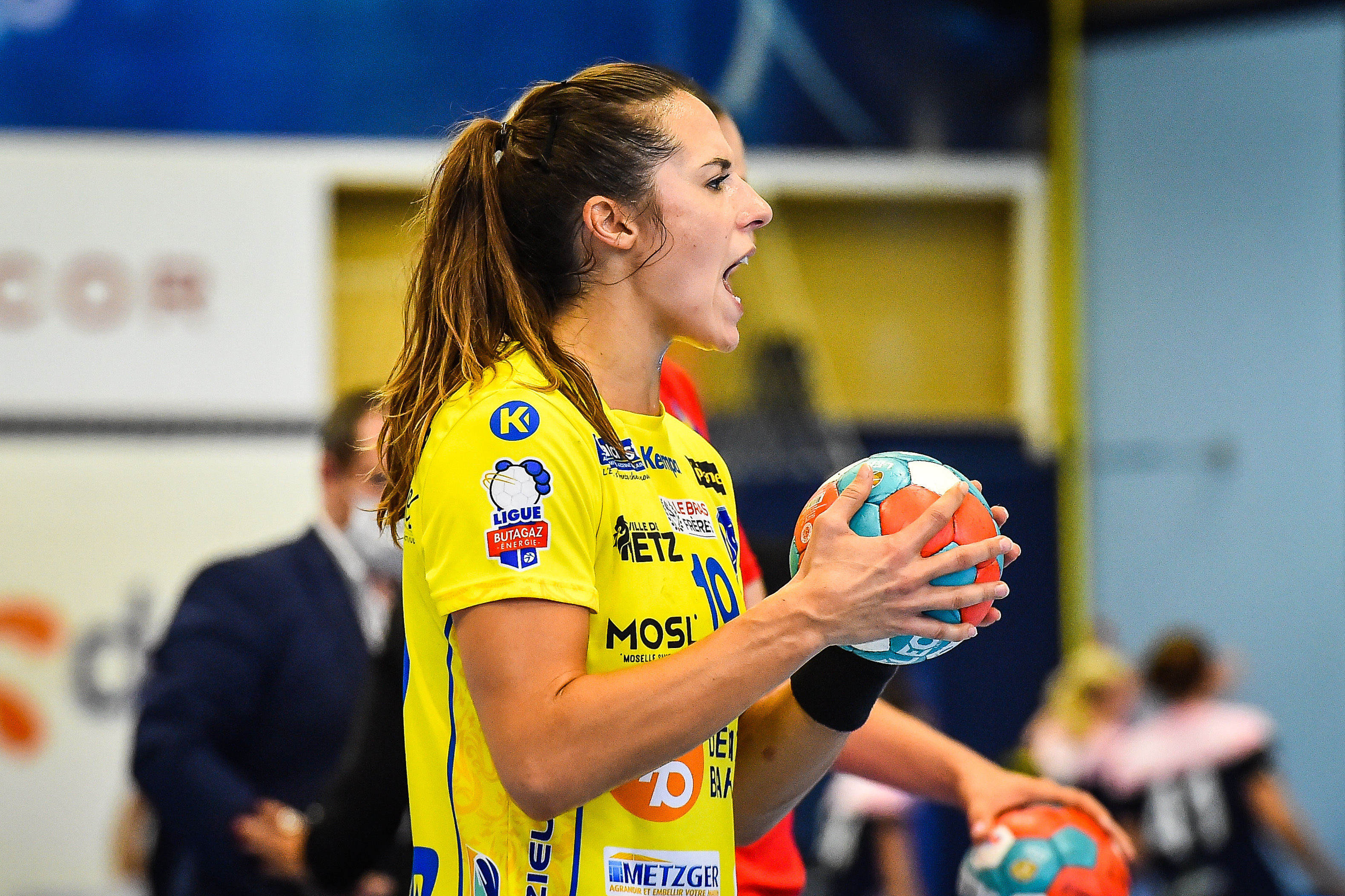 Louise BURGAARD of Metz during the Ligue Butaguaz Energie match between Chambray and Metz on September 15, 2021 in Chambray-les-Tours, France. (Photo by Matthieu Mirville/Icon Sport) - Louise BURGAARD -  (France)